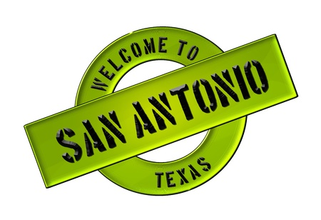 Reisen: Illustration of WELCOME TO SAN ANTONIO as Banner for your presentation, website, inviting    Stock Photo