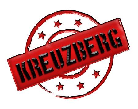 zeichen: KREUZBERG - Zeichen  Symbol im Retro Stil fuer Praesentationen, Prospekte, Internet, ... Stock Photo