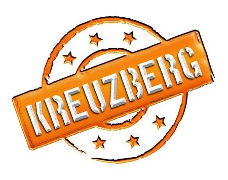 freigestellt: KREUZBERG - Zeichen  Symbol im Retro Stil fuer Praesentationen, Prospekte, Internet, ... Stock Photo