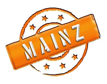MAINZ - Zeichen   Symbol im Retro Stil fuer Praesentationen, Prospekte, Internet,