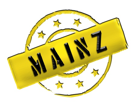 freigestellt: MAINZ - Zeichen   Symbol im Retro Stil fuer Praesentationen, Prospekte, Internet,