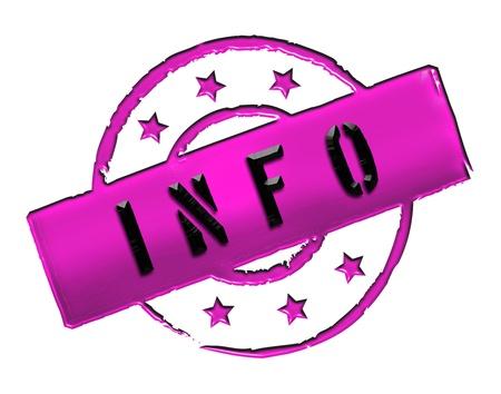 zeichen: INFO - Zeichen   Symbol im Retro Stil fuer Praesentationen, Prospekte, Internet,     Stock Photo