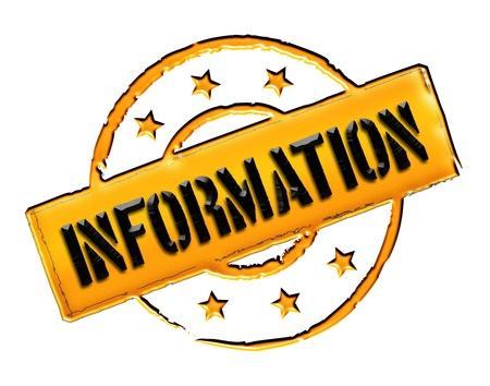 freigestellt: INFORMATION - Zeichen   Symbol im Retro Stil fuer Praesentationen, Prospekte, Internet,