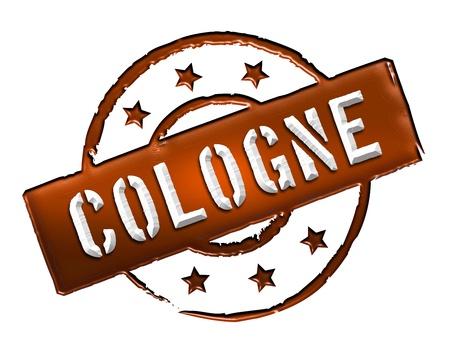 COLOGNE - Zeichen   Symbol im Retro Stil fuer Praesentationen, Prospekte, Internet,