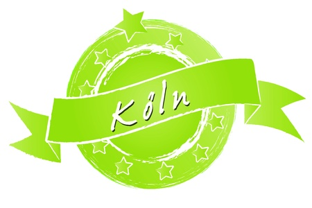 KÖLN - Banner, Logo, Symbol im Royal Grunge Style fuer Praesentationen, Flyer, Prospekte, Internet,