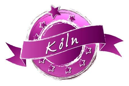 KÖLN - Banner, Logo, Symbol im Royal Grunge Style fuer Praesentationen, Flyer, Prospekte, Internet,...