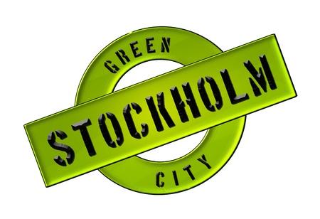 zeichen: GREEN CITY STOCKHOLM - Zeichen, Symbol, Banner fuer Prospekte, Flyer, Internet, ...