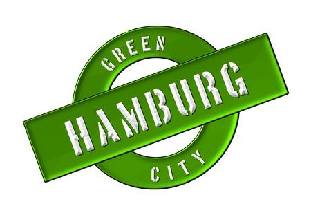 zeichen: GREEN CITY HAMBURG - Zeichen, Symbol, Banner fuer Prospekte, Flyer, Internet, ...