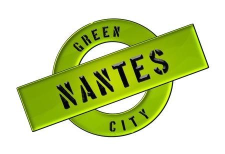 zeichen: GREEN CITY NANTES - Zeichen, Symbol, Banner fuer Prospekte, Flyer, Internet, ...