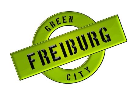 zeichen: GREEN CITY FREIBURG - Zeichen, Symbol, Banner fuer Prospekte, Flyer, Internet, ...