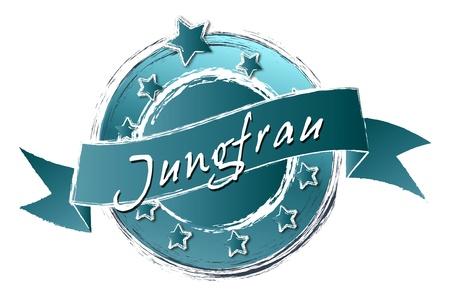 Tierkreiszeichen - Banner, logo, symbool im Royal Grunge Stijl fuer Praesentationen, Flyer, Prospekte, Internet, ...