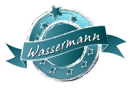krebs: Tierkreiszeichen - Banner, Logo, Symbol im Royal Grunge Style fuer Praesentationen, Flyer, Prospekte, Internet,...