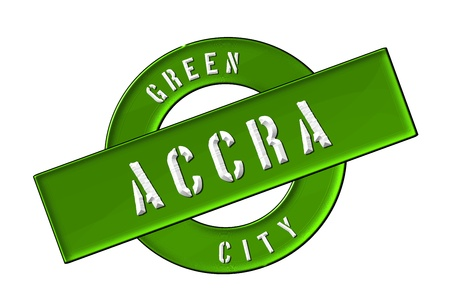 afrika: GREEN CITY ACCRA - Zeichen, Symbol, Banner fuer Prospekte, Flyer, Internet,     Stock Photo