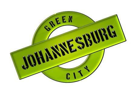 zeichen: GREEN CITY JOHANNESBURG - Zeichen, Symbol, Banner fuer Prospekte, Flyer, Internet,
