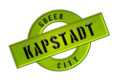 afrika: GREEN CITY KAPSTADT - Zeichen, Symbol, Banner fuer Prospekte, Flyer, Internet,     Stock Photo