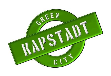 zeichen: GREEN CITY KAPSTADT - Zeichen, Symbol, Banner fuer Prospekte, Flyer, Internet,     Stock Photo