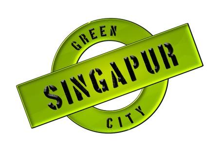 zeichen: GREEN CITY SINGAPUR - Zeichen, Symbol, Banner fuer Prospekte, Flyer, Internet,