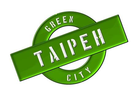 zeichen: GREEN CITY TAIPEH - Zeichen, Symbol, Banner fuer Prospekte, Flyer, Internet,