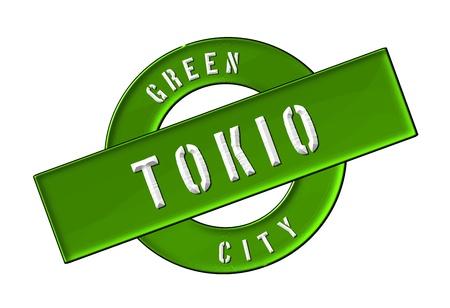 zeichen: GREEN CITY TOKIO - Zeichen, Symbol, Banner fuer Prospekte, Flyer, Internet,