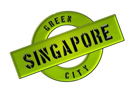 zeichen: GREEN CITY SINGAPORE - Zeichen, Symbol, Banner fuer Prospekte, Flyer, Internet,     Stock Photo