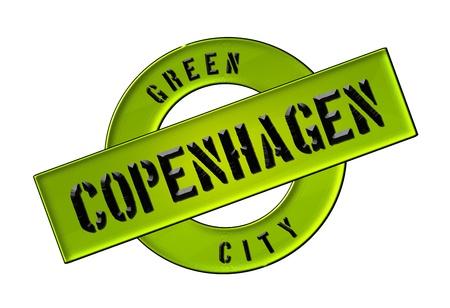 zeichen: GREEN CITY COPENHAGEN - Zeichen, Symbol, Banner fuer Prospekte, Flyer, Internet,