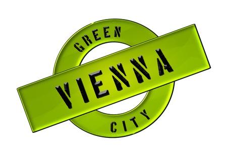 zeichen: GREEN CITY VIENNA - Zeichen, Symbol, Banner fuer Prospekte, Flyer, Internet, ...