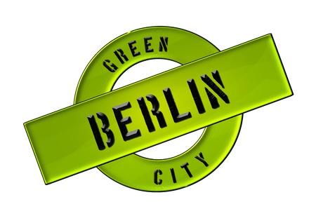 zeichen: GREEN CITY BERLIN - Zeichen, Symbol, Banner fuer Prospekte, Flyer, Internet,     Stock Photo