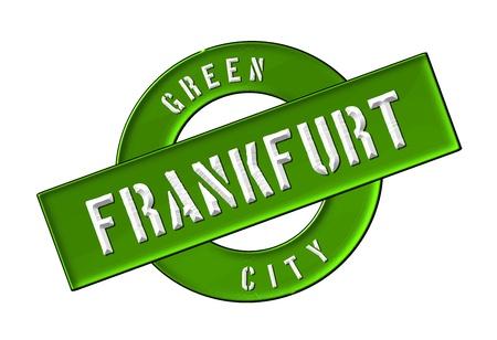 zeichen: GREEN CITY FRANKFURT - Zeichen, Symbol, Banner fuer Prospekte, Flyer, Internet,