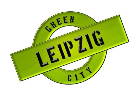 zeichen: GREEN CITY LEIPZIG - Zeichen, Symbol, Banner fuer Prospekte, Flyer, Internet,