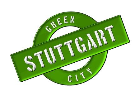 zeichen: GREEN CITY STUTTGART - Zeichen, Symbol, Banner fuer Prospekte, Flyer, Internet,