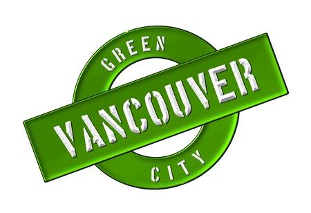 zeichen: GREEN CITY VANCOUVER - Zeichen, Symbol, Banner fuer Prospekte, Flyer, Internet,