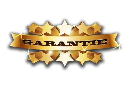 glanz: Goldener Banner mit leuchtenden Sternen auf dunklem Hintergrund mit Aufschrift Stock Photo