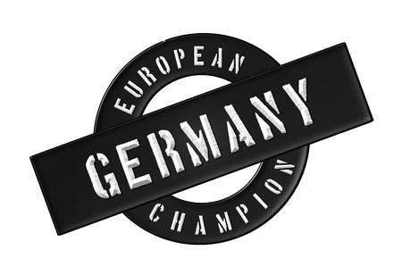 zeichen: European Champion - Germany - Zeichen, Symbol, Banner fuer Prospekte, Flyer, Internet, ...