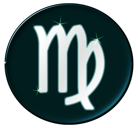 Zodiac Signs as shimmering button for presentations,     photo