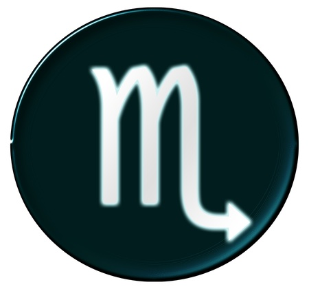 krebs: Zodiac Signs as shimmering button for presentations,