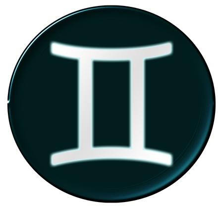 Zodiac Signs als glinsterende knop voor presentaties, Stockfoto - 14343916
