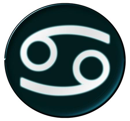 Zodiac Signs als glinsterende knop voor presentaties, Stockfoto - 14343975