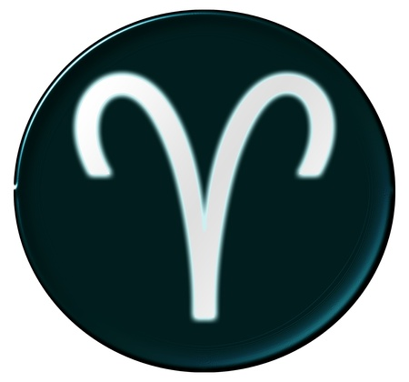 Zodiac Signs als glinsterende knop voor presentaties, Stockfoto - 14343917