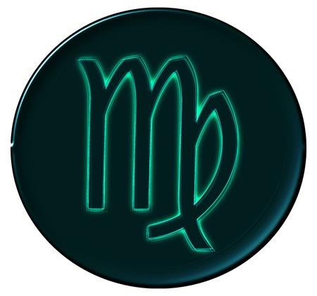 Zodiac Signs als glinsterende knop voor presentaties,