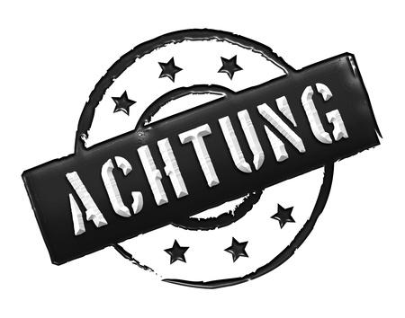 zeichen: ACHTUNG - Zeichen  Symbol in Retro Style