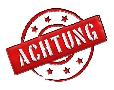 ACHTUNG - Zeichen  Symbol in Retro Style