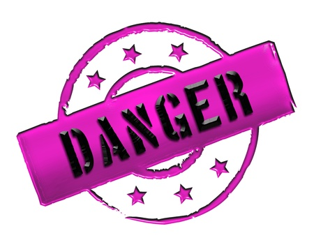 zeichen: DANGER - Zeichen  Symbol in Retro Style