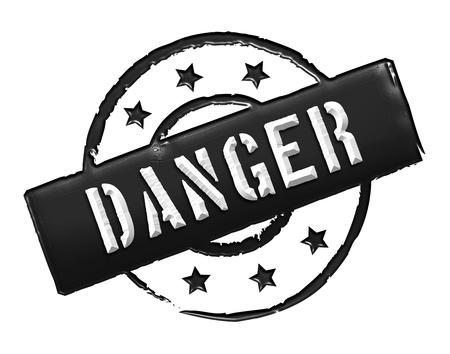 freigestellt: DANGER - Zeichen  Symbol in Retro Style