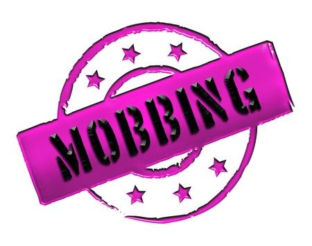 zeichen: MOBBING - Zeichen  Symbol in Retro style