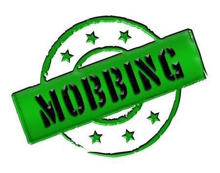 mobbing: MOBBING - Zeichen  Symbol in Retro Style