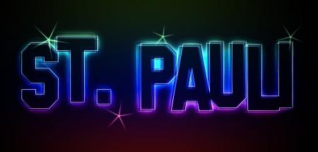 reeperbahn: St. Pauli als Illustration im Neon Licht Style für Präsentationen, Flyer, Web, etc.