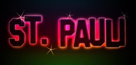St. Pauli ALS-Illustration im Stil Neon Licht fr Prsentationen, Flyer, Web, etc.