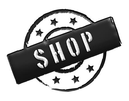 SHOP - Zeichen, Symbol im Retro Stil fuer Praesentationen, Prospekte, Internet,     Stock Photo