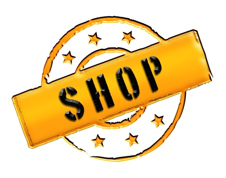SHOP - Zeichen, Symbol im Retro Stil fuer Praesentationen, Prospekte, Internet,     Stock Photo - 14614891