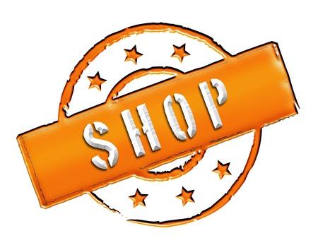 SHOP - Zeichen, Symbol im Retro Stil fuer Praesentationen, Prospekte, Internet,     Stock Photo - 14614902